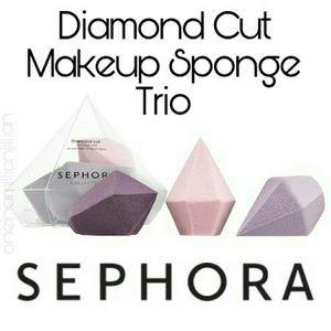 Sephora Diamond Cut Makeup Sponge Trio
